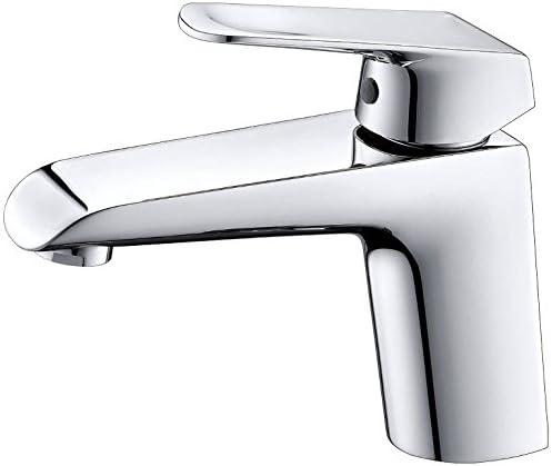 Brushed Nickel Eviva EVFT1162BN Lotus Single Handle Bathroom Sink Faucet Combination Nickle