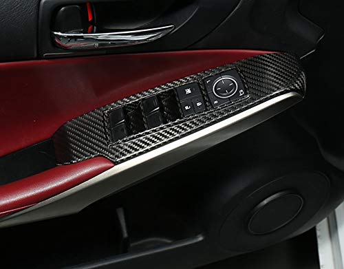 Eppar New Carbon Fiber Window Control Covers 4PCS Compatible with Lexus is 2013-2018 IS250 IS300 IS350 IS300h IS200t