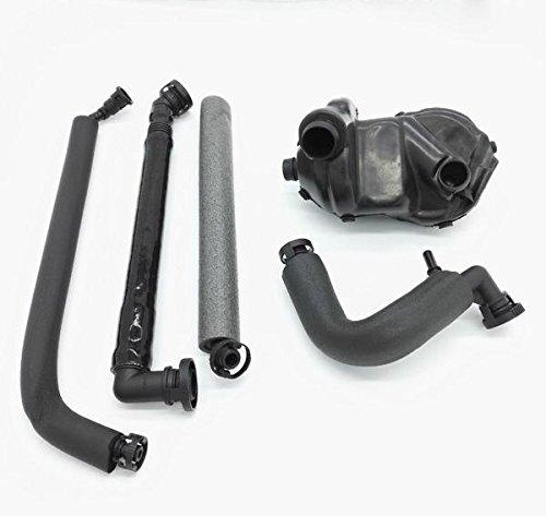 U-ESSENTIALS Breather Hose Kit Including Vent Valve + Ventilation Hose for crankcase Matching 11 61 7 533 400, 11617533400, 11617533400S1 WW