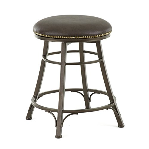 Steve Silver Company Bali Backless Swivel Counter Stool, 18'W x 18'D x 24'H