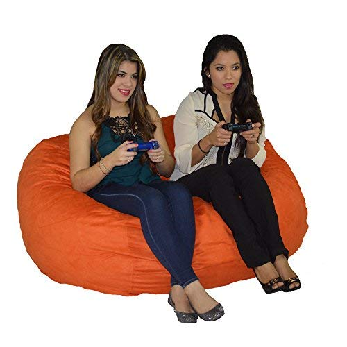 Cozy Sack, LG-CBB-PUMPKIN, Large Premium Foam Bean Bag Chair, PUMPKIN