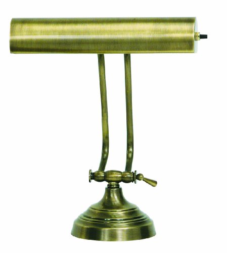 House Of Troy AP10-21-71 Advent Collection 10-1/2-Inch Adjustable Piano/Desk Portable Lamp, Antique - Lamp Piano 10'