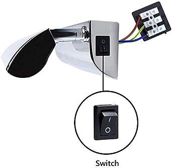 9W 63CM 900LM L/ámpara de Espejo Ba/ño LED Impermeable IP45 con EU Ench/úfe, longitud de 1.7M con Luz Blanca Fr/ía 6000K /Ángulo Ajustable Aplique LED L/ámpara de Pared para Maquillaje