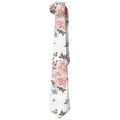145cm Funny What Cotton Squirrel Birdseed Printing Tie Skinny Necktie Men's 143 Length RFFqAO