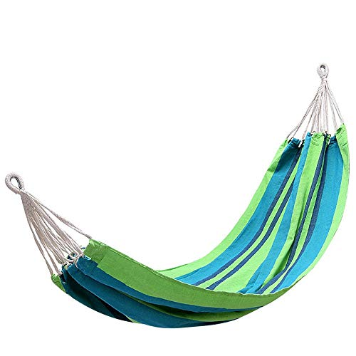 TYNEGH Outdoor Travel, Tourism, Leisure Picnic, Hammock (Color : Apple Green Stripes, Size : 39.478.7IN)