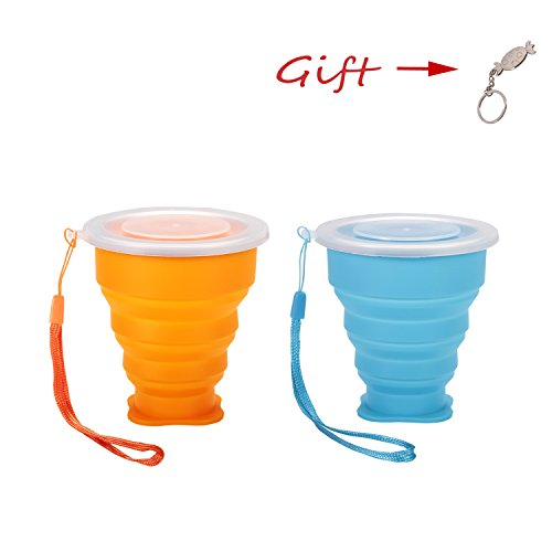 ULT-unite 2pcs Collapsible Silicone Drinking Cup for Trav...