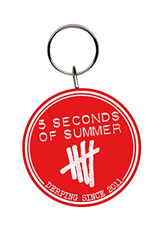 5-seconds-of-summer-5sos-flat-2d-rubber-keychain-keyring-logo-derping-since-2011-15-in-diameter