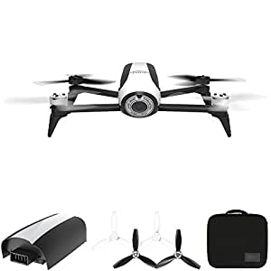 Parrot Bebop 2 Quadcopter Drone with HD 14MP Flight Camera (White) All Inclusive Pack Includes Drone, Extra Battery, and Parrot Hard Side Case