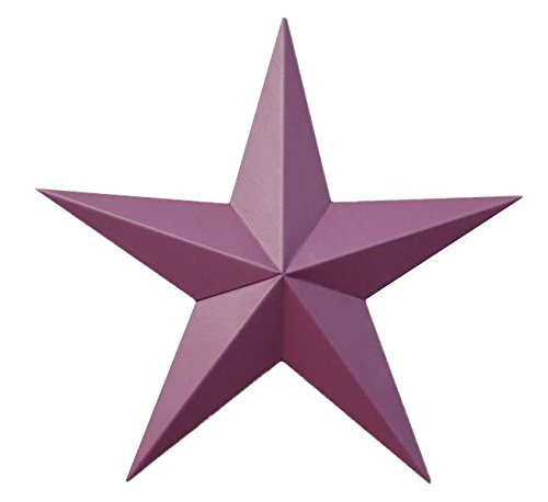 AMISH WARES 53 Inch Heavy Duty Metal Barn Star Painted Solid Burgundy. ()