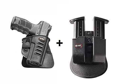 Fobus Pistol Case Paddle Holster + 6909ND Double Magazine Pouch for Walther PPQ H&K P30, P30 SK