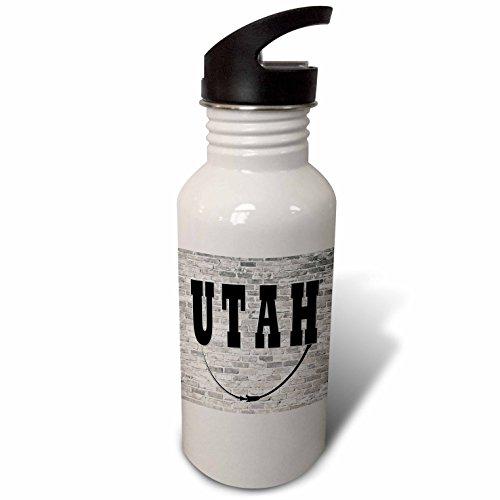 3dRose RinaPiro - US States - Utah. State Capital is Salt Lake City. - Flip Straw 21oz Water Bottle (wb_268723_2) by 3dRose