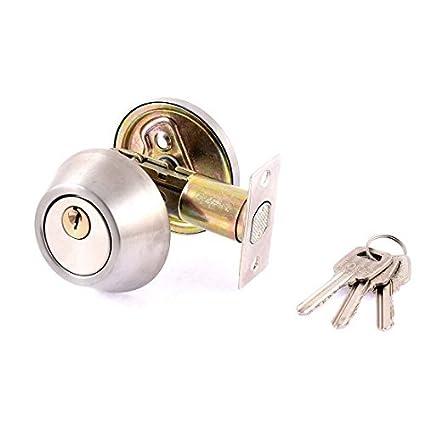 eDealMax Cilindro Forma sola puerta cerrojo de seguridad con llave ...