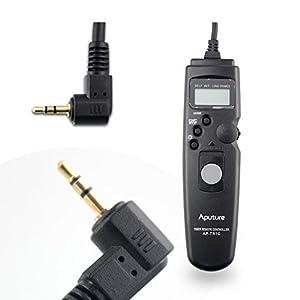 Aputure LCD Camera Timer Remote Control Shutter Cord 1C for Canon Digital Rebel XT,XTi,XSi,T1,T1i,T2i,T3,T3i,T4i,T5i,SL1,60D,60Da,70D,30,33,300V,50,50E,50,33,30,3000