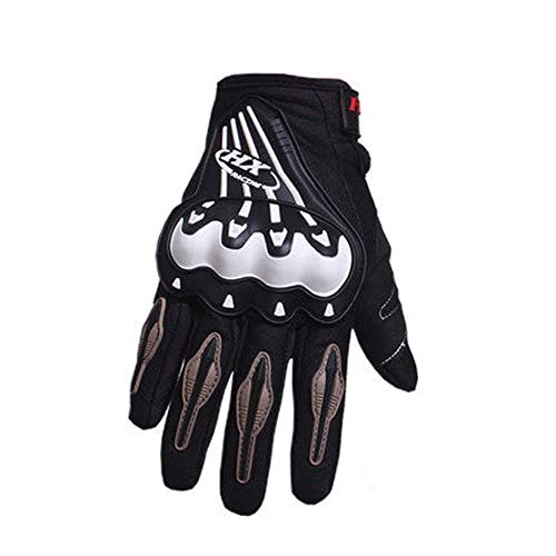 AINIYF Full Finger Motorcycle Gloves | Motocross Anti-skid Slip Breathable Cycling Racing Locomotive Touchscreen Outdoor Gloves Male Summer Knight Equipment (Color : White, Size : XL) by AINIYF (Image #6)