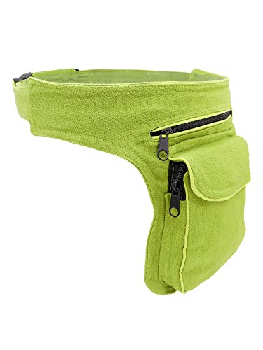 Hüfttasche grün - Baumwolle - mit Magnetverschluss