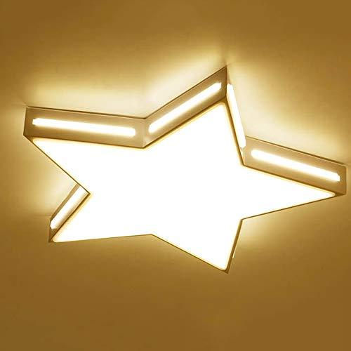 Three-Couleur Dimming 52cm Aiqiyi Creative Lampe de Plafond LED Lampe de Chambre Simple Moderne Lampe de Chambre Lampe Starfish Salon Lampe Lampes acryliques Accueil Chaleureux Rohommetique Lampe de Plafond