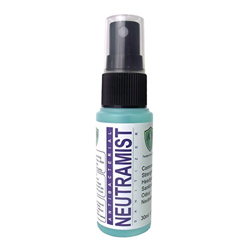 Ahead Solutions Neutramist Helmet Sanitizer 30ml. Fast Drying, Antibacterial, Anti-Fungal Helmet Sanitiser. Commercial Strength Deodoriser in Handy Pocket Size Take Anywhere Bottle. (Ahead Hats)