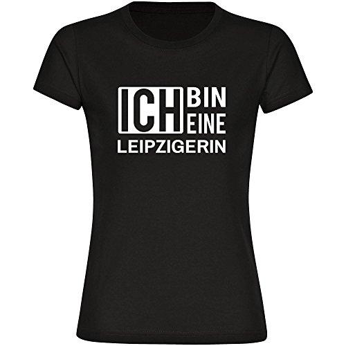 T-Shirt ich bin eine Leipzigerin schwarz Damen Gr. S bis 2XL