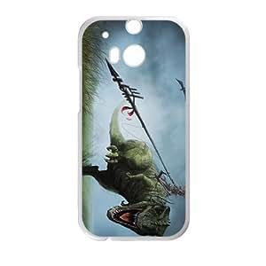 Happy Creative Dinosaur Big Mouth Custom Protective Hard Phone Cae For HTC One M8