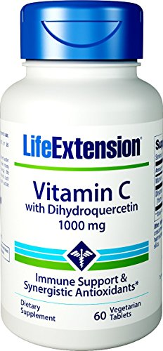 Life Extension Vitamin C with Dihydroquercetin 1000 mg, 60 Vegetarian Tablets