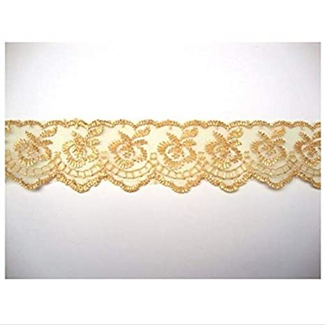 White Pearl /& Lace Beaded Trimming Lovely Vintage Style Wedding Bridal Ribbon 5M