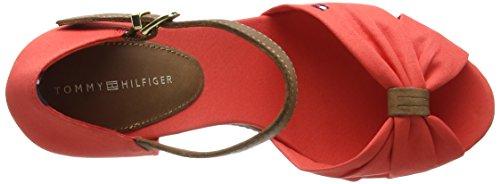 Tommy Hilfiger E1285Lena 1D - Sandalias para mujer Red Clay