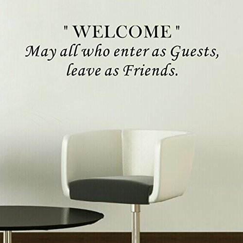Pop Decors WL-0046-Vb Inspirational Quote Wall Decal May All Who Enter As Guests