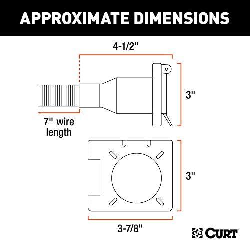 [SCHEMATICS_4FD]  Amazon.com: CURT 55774 Dual-Output Vehicle-Side Trailer Wiring Harness  Connectors for USCAR, 7-Pin, 4-Pin: Automotive | Big John Trailer Wiring Diagram |  | Amazon.com