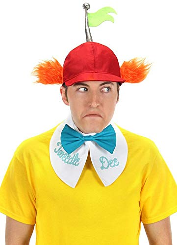 Tweedle Dum And Dee Costumes (Disney Tweedle Dee & Tweedle Dum Hat, Collar & Tie Kit)
