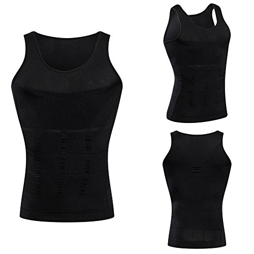 f2efa4a1433 HANERDUN Mens Slimming Body Shaper Vests Undershirt Abs Abdomen Slim ...
