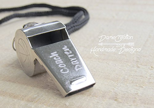 Personalized Coach Whistle, Silver Whistle, Custom Whistle