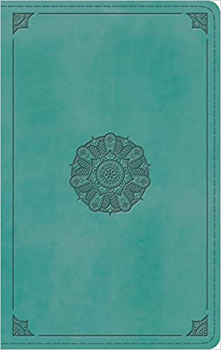 Esv Thinline Bible Trutone Turquoise Emblem Design Esv Bibles