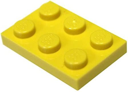 LEGO Parts and Pieces: Yellow (Bright Yellow) 2x3 Plate x100