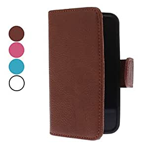 Fashionable and Novel Cowhide Leather Full Body Case for iPhone 4/4S (Assorted Colors) --- COLOR:Brown