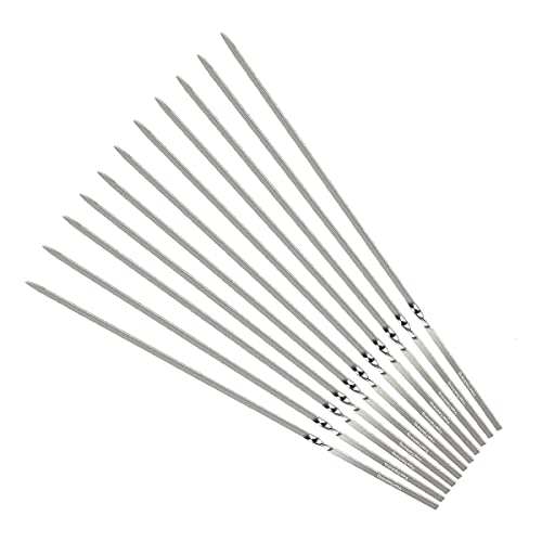 Yeeteching Kabob Skewers(Set of 20), 14'' Stainless Steel Reusable BBQ Barbecue Skewers with Portable Storage Bag Design,BBQ Accessories Tool for Indoor/Outdoor BBQ Grill Party,