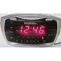 Dual Alarm AM/FM Clock Radio with SmartSet Automatic Time Setting System