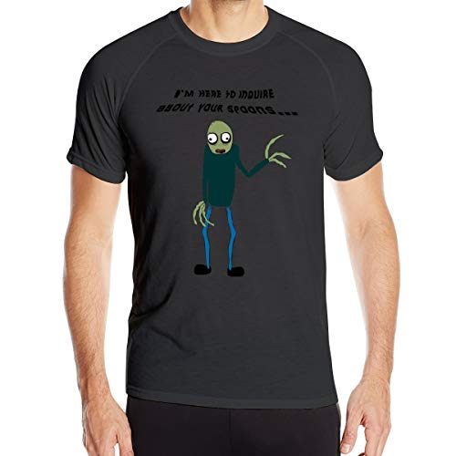 Salad Fingers Men¡¯s Dry-Fit Moisture Wicking Active Athletic Performance Crew T-Shirt Black - Fingers Salad