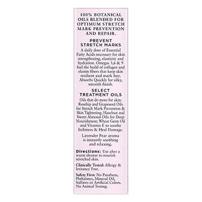 Basq Skin Care Resilient Body Stretch Mark Oil, Lavender, 4 Fluid Ounce