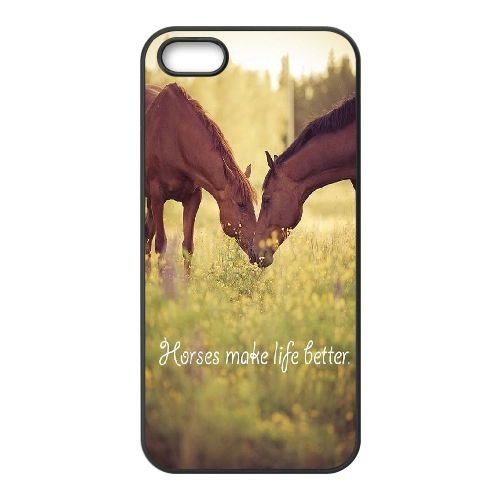 new style 55c87 1aaa6 DIY Cover Case for iPhone 5,iPhone 5s w/ horse image at Hmh-xase (style 8)