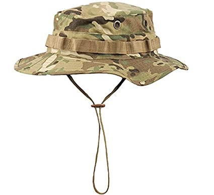 a14539c73ed Boonie Hat Tactical Ripstop Headwear Bucket Hat with Map Pocket Chin Strap  for Wargame Sports Hunting