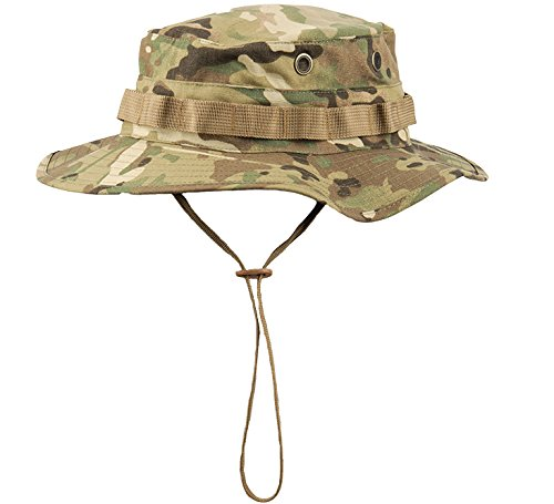 156f6001f12ee GLORYFIRE Boonie Hat Tactical Ripstop Headwear Bucket Hat with Map Pocket  Chin Strap for Wargame Sports
