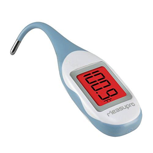 MeasuPro Schnell Ablesbares Digitale Rektal-, Oral- Und Achselthermometer Mit Besonders Weichem, Wasserdichtem Design, Farbwechsel Bei Fieberanzeige Und Speicherfunktion, CE-, FDA-Zulassung