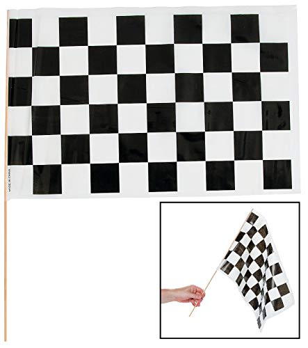 Black & White Checkered Racing Flags (12 Pack) 16