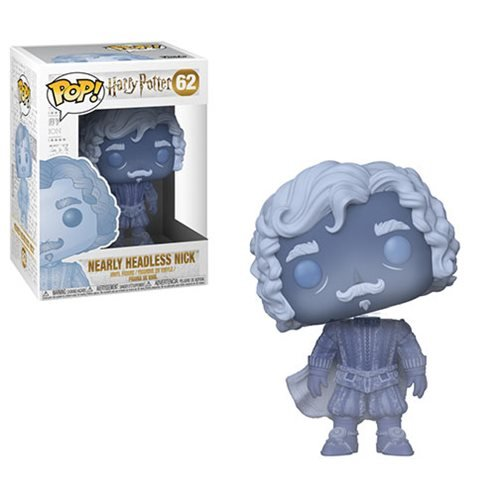 H.P. Harry Potter Nearly Headless Nick Blue Translucent Pop!