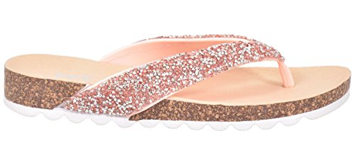 Emma Shoes Ladies Flip Flop Beach Comfy Slip On Slippers Light Pink IYBavik
