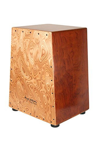 Tycoon Vertex Series Cajon with Bubinga Body and Makah Burl Front Plate