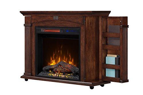 Cherry Electric Fireplace Cabinet Mantel (BoldFlame Libriux 37