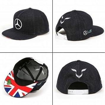 Mercedes AMG Petronas & Lewis Hamilton gorra de béisbol: Amazon.es ...
