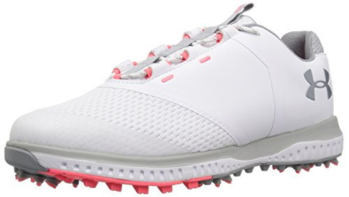 Under Armour Women's Fade RST Golf Shoe White (100)/Overcast Gray 9