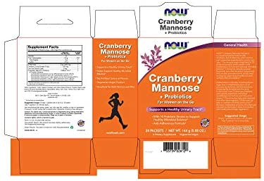 NOW Supplements, Cranberry Mannose Probiotics with a blend of 10 Probiotic Bacterial Strains, 24 Box